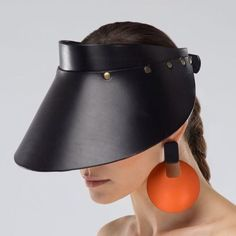 Leather visor by THEO