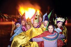 Iceland Children participate in the annual festival in Vestmannaeyjar, Iceland, that takes place at Christmas. The children dress as trolls, fairies, or elves. Floris Leeuwenberg—The Cover Story/Corbis
