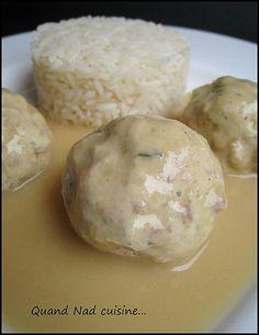 boulettes de poulet au jambon sauce moutarde