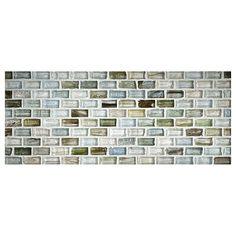 Zumi Gl Tile 1 2 X Mini Brick Mosaic Seacliff