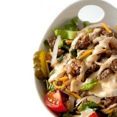Cheeseburger Salad with Big Mac Dressing
