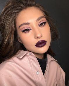 254 Gorgeous Makeup Looks For Every Woman Achieve Hot Look Mauve Makeup, Glam Makeup, Skin Makeup, Makeup Art, Beauty Makeup, Makeup Ideas, Makeup Inspo, Disco Makeup, Sexy Eye Makeup