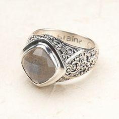 Bali Scroll: Labradorite Ring  abcrane.willowhouse.com