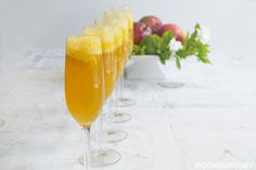 A Drink Recipe For Brunch: Mango Lime Bellinis