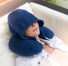 This hoodie neck pillow for sleeping on the commute ($13). | 17 Perfect Gifts For People Who Can't Seem To Stay Awake