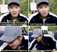 Look at the sass levels on this one. Imma smack him #exo #suho #kim #junmyeon #kpop #funny