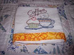 Across My Kitchen Table: embroidered tea towel