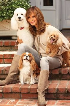 Jacklyn Smith with her pet dogs   | celebs | | pets |  #celebswithdogs #celebswholovedogs   https://biopop.com/