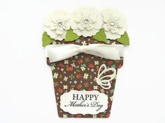 Happy Mother's Day Card Flower Pot Cards by SassyScrapsCrafts