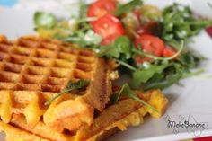 Gaufre patate douce, poulet &co Galette, Soul Food, Waffles, Pumpkin, Snacks, Breakfast, Salads, Planks, Food For The Soul