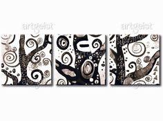 Tableau décoratif Symboles d'un arbre #tableaux #tableau #peinture #decor #design