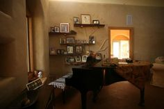 Cob house living room