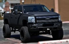 Matte black lifted truck ....repinned by www.carmartdirect.com