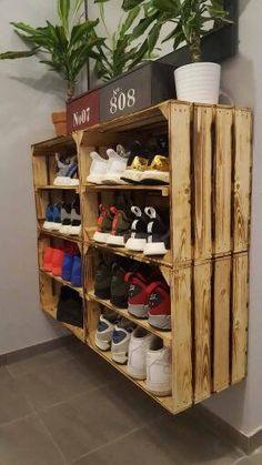 10 shoe storage ideas to keep you sane diy pinterest for Scarpiera con pallet