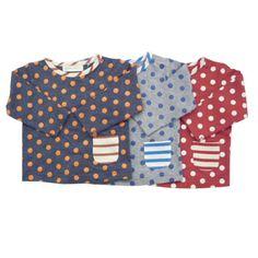 baby cheer ドット長袖Tシャツ[70cm-100cm] |