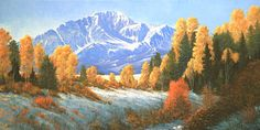 Autumn Song: Pikes Peak. Painting by Kenneth Shanika.