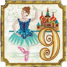 Nine ladies dancing! our Bolshoi Ballet prima ballerina poses in front of St. a lovely addition to our 12 Days of Christmas. In or charm size. San Francisco Stitch Co. Twelve Days Of Christmas, Christmas Star, Christmas Ideas, Merry Christmas, Machine Embroidery Applique, Embroidery Patterns, Ballerina Poses, Miniature Quilts, Princess Collection