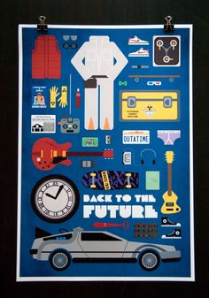 Etsy Picks of the Week: Back to the Future - Movie Parts Poster by EmmaButlerDesign