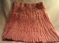 Pink Floral Broomstick Skirt Flirty Tiered Anne Josephine Ladies Medium Flower 24.95