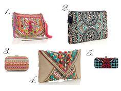 ethnic, boho, bohemian, bags, clutches, clutch, print, beaded, zara, accessorize, craving, wishlist