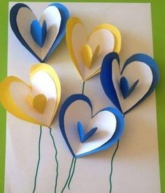 carte ballons pop up Valentines Cards with Heart Shapes Mother's Day cards Related Post Valentines Day Heart Fingerprint Tree Craft for Ki. Kids Crafts, Valentine Crafts For Kids, Spring Crafts For Kids, Mothers Day Crafts, Valentines Diy, Preschool Crafts, Art For Kids, Easy Crafts, Saint Valentin Diy