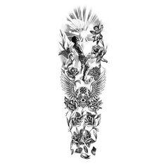 Angels and Skulls Tattoo Drawing