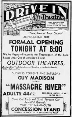 1949 Drive Inn Movies, Drive In Movie Theater, Vintage Tools, Vintage Ads, Type Posters, Movie Posters, Outdoor Theater, Theatres, Motel