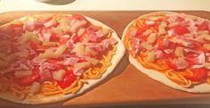 spaghetti pineapple pizza