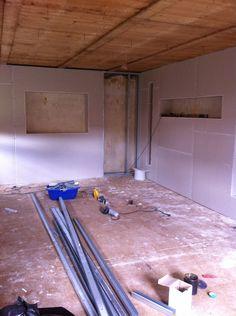 Wohnzimmer während des Umbaus