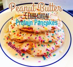Ripped Recipes - Peanut Butter Cinnamon Protein Pancakes - A yummy pancake with a combination of peanut butter and cinnamon!