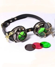 aa36245c0fb Steampunk Tinkerers Jeweler Goggles High Quality Leather and Metal. Goggles  SteampunkSteampunk CosplaySteampunk ...