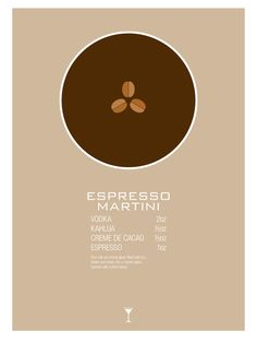 Espresso Martini Cocktail Recipe Poster (Imperial) by Jazzy Phae