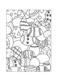 Several decorated Easter eggs to be colored beautifully Easter Coloring Pages, Colouring Pages, Coloring Books, Homemade Anniversary Gifts, Boyfriend Anniversary Gifts, Easter Placemats, Homemade Gifts For Boyfriend, Easy Handmade Gifts, Cheerleading Gifts