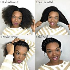 How To: Goddess Braid Protective Style. Step by step tutorial YouTube.com/SimplyJade101