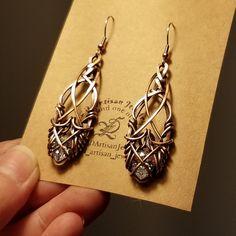 Copper Jewelry, Wire Jewelry, Body Jewelry, Beaded Jewelry, Jewelery, Wire Wrapped Earrings, Wire Earrings, Earrings Handmade, Handmade Jewelry