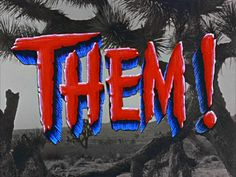 This is the big kahuna of bad horror movies. Giant freakin' ants terrorizing a desert town. One of my all-time favorites. Old Movies, Vintage Movies, Obama Cartoon, Art Of The Title, Classic Sci Fi, Classic Movies, Sci Fi Films, Black And White Background, Title Sequence