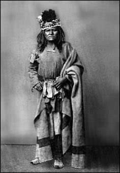 Tonto Apache, Godigojo. Photographed 1875. - National Anthropological Archives, Smithsonian Institution.