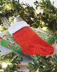 Ravelry: Cutlery Holder Stocking pattern by Bernat Design Studio
