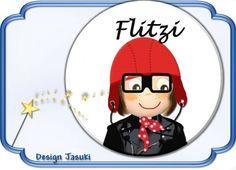 Button kleiner Rennfahrer mit Namen von Jasuki auf DaWanda.com