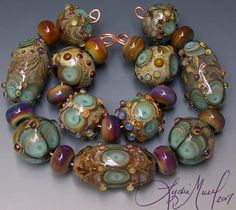 Fine Lampwork by Lydia Muell, Gallery of Lampwork Bead Sets