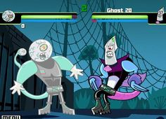 Create your monster and fight it against other Danny Phantom monsters. How many can you beat?