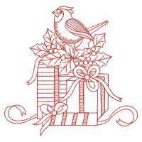 OregonPatchWorks.com - Sets - Redwork Christmas Gift