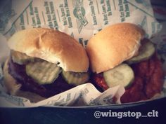 Better together. #wingstop #gliders #BBQ #Hot