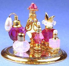 """Valerie"" perfumes set $36 Miniature  By Patsy Mac  1 1/4"" x 1"""