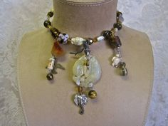 Creatures Big and Small: Tribal Choker Glass Beads by MorticiaSnow