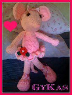 Angellina Ballerina 57 cm de alto. Tweety, Ballerina, Dinosaur Stuffed Animal, Toys, Animals, Fictional Characters, Art, Amigurumi, Activity Toys