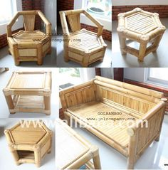 Bamboo sofa - Bamboo furniture - Sofa bed - Corner sofa - Arm chair: