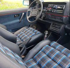Golf Tips Hybrid Swing Gti Vw, Jetta Mk1, Volkswagen Golf Mk1, Golf Mk2, Vw Golf Cabrio, Vw Cabriolet, Car Interior Upholstery, T3 Camper, Golf Room