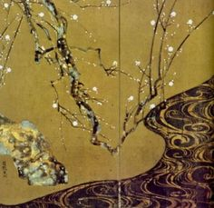 Ogata Korin , red and white plum blossoms