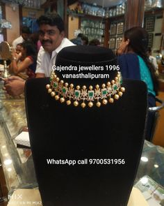 Stunning gold choker studded with multi precious stones. Choker with south sea pearl hangings. 30 November 2019 Stunning gold choker studded with multi precious stones. Choker with south sea pearl hangings. Gold Temple Jewellery, Gold Jewellery Design, Gold Jewelry, Simple Jewelry, Jewelry Art, Diamond Jewelry, Indian Wedding Jewelry, Bridal Jewellery, Indian Jewelry